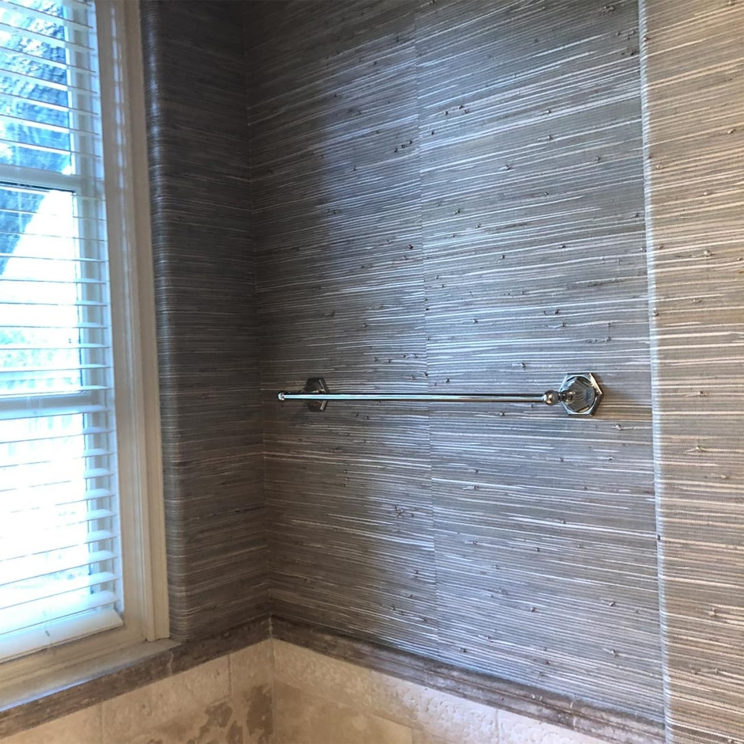 Grasscloth Bathroom Wall Coverings