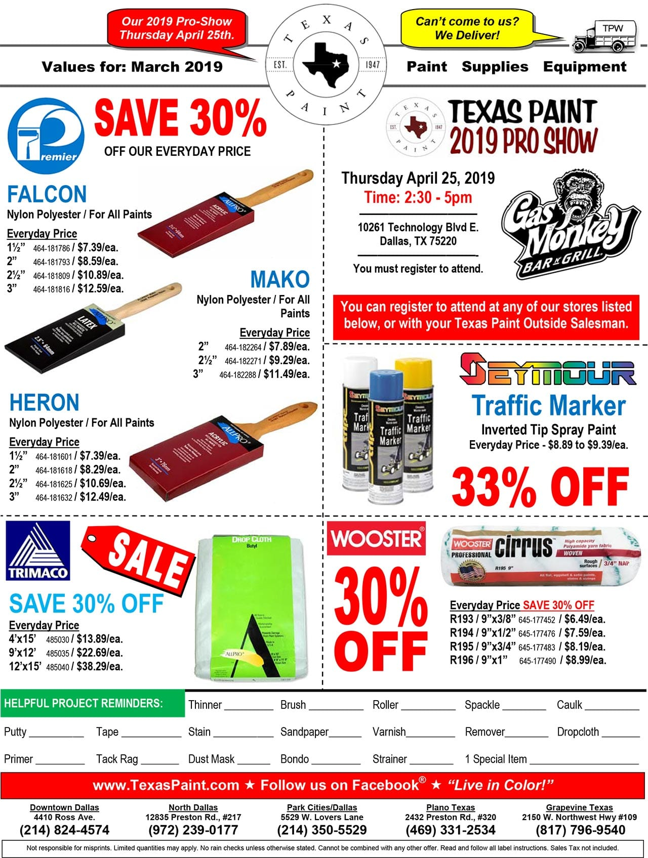 March Sales and Promos
