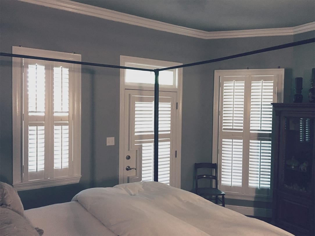Shutters with door cut out