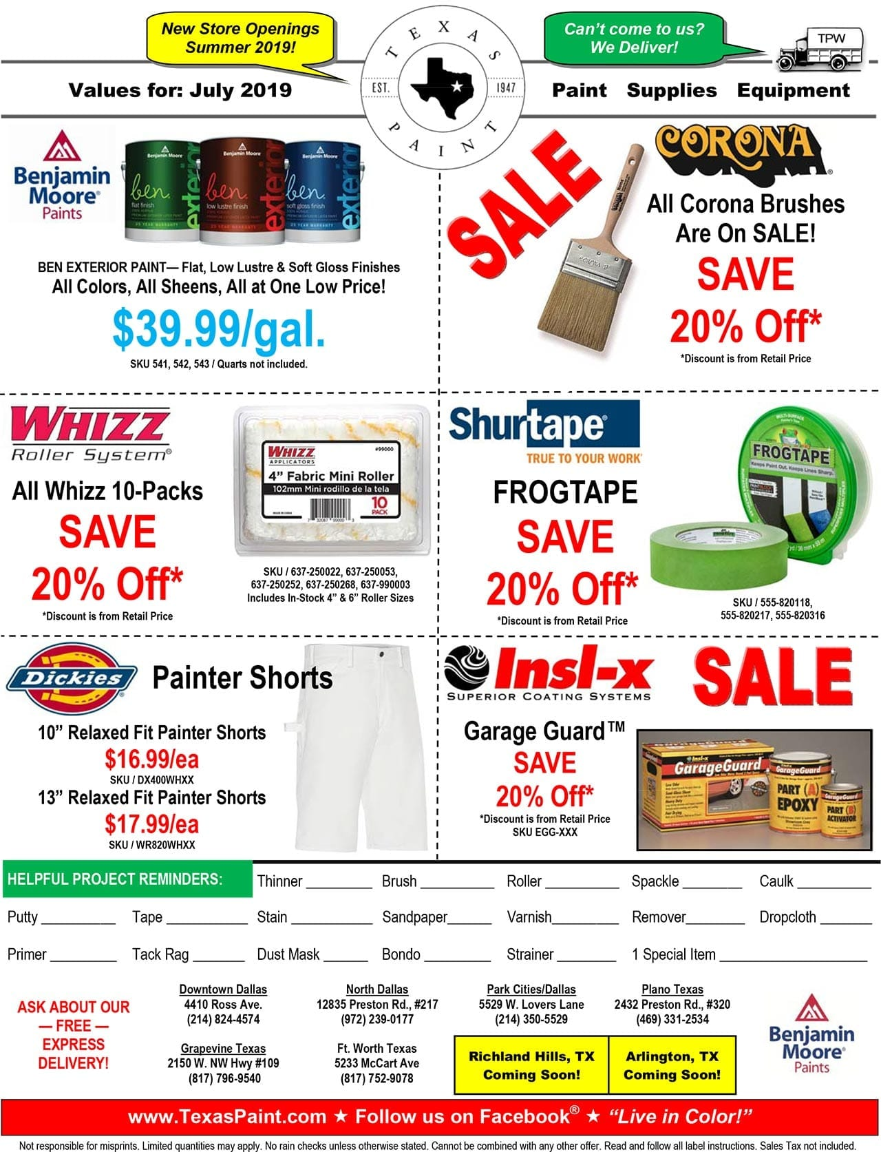 July Sales and Promos, Offers