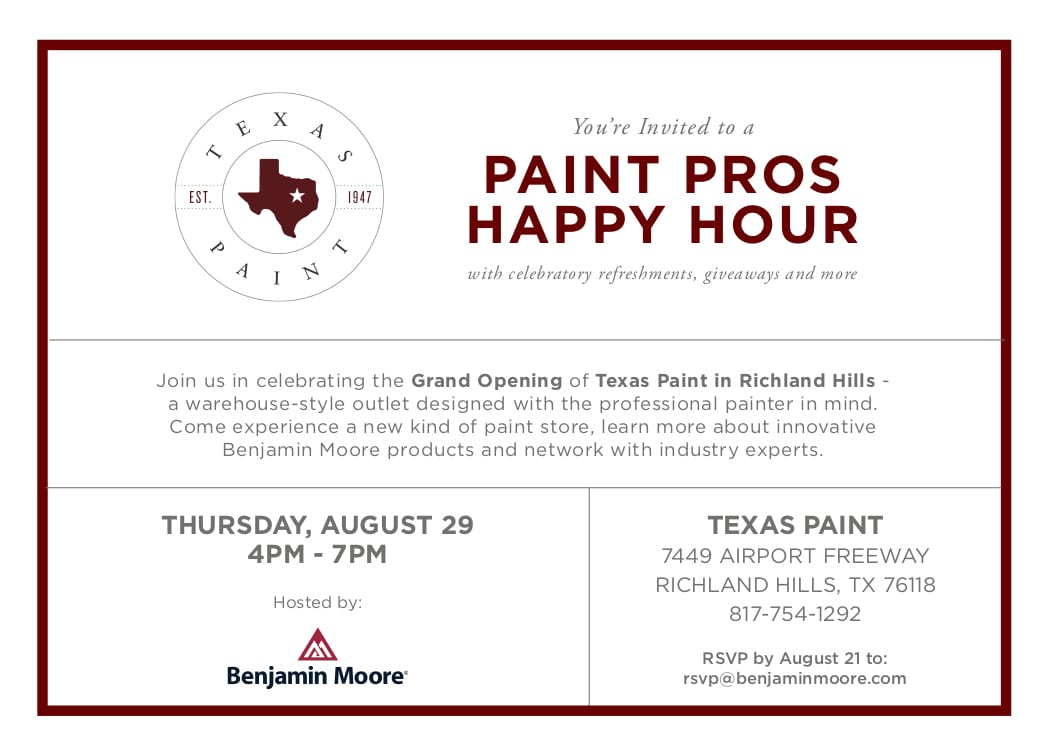 Paint Pros Happy Hour