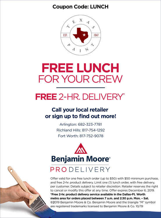 Free Lunch - Pro Delivery - Texas Paint