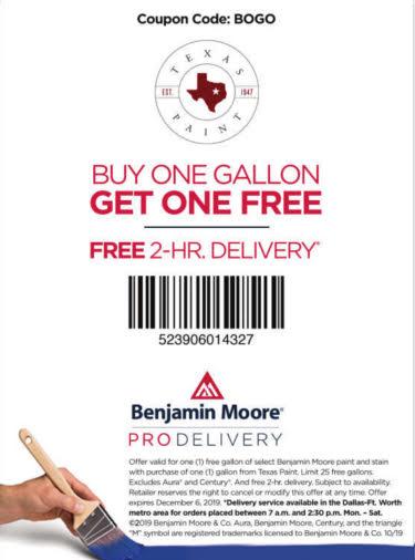 BOGO - Pro Delivery - Texas Paint
