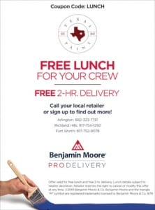 Pro Delivery Free Lunch Small- Texas Paint & Wallpaper