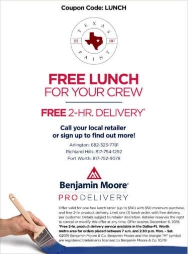 Free Lunch for Your Crew - Texas Paint Pro Delivery