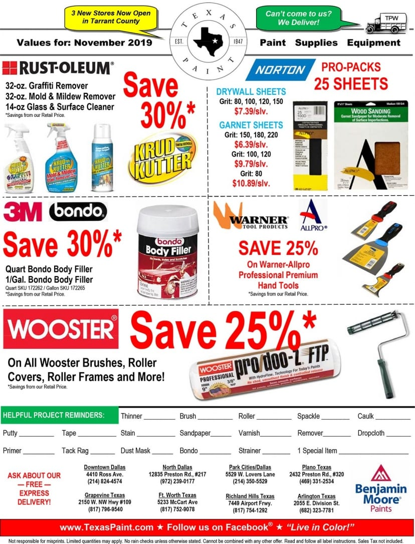 November Offers, Sales and Promos