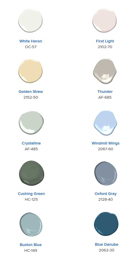 Benjamine Moore Color of the Year 2020 Pallatte, Texas Paint