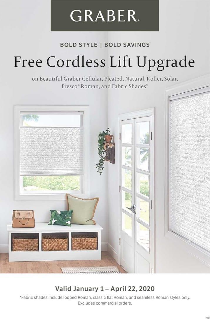 Graber Promo Free Cordless Lift Upgrade